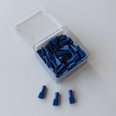 Image de Clips plats f isolé bleu 2.5mm² (100 pces)
